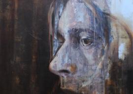 Ciklas-27klubas. Kurt Cobain. Kartono plokštė, akrilas, aliejus. 122.5x91.5cm. 2014m. (Parduodamas)