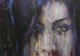 Ciklas-27klubas.Amy Winehouse. Kartonas, aliejus. 90x120cm. 2014m. (Parduotas)