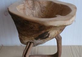 Vaisių vaza-dubuo - Uosis, ąžuolas