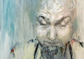 Autoportretas. Kartonas, aliejus. 100x140cm. 2012m. (Parduodamas)
