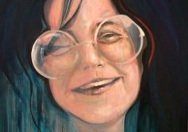 Janes Joplin. Drobė, aliejus. 120x100cm. 2012m. (Parduotas)