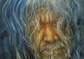 Robert Plant. Drobė, aliejus. 59.5x84cm. 2019m.