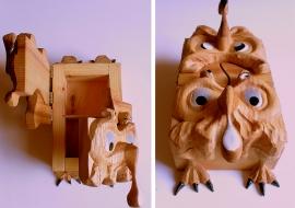 Papuošalų dėžutė. Uosis, medžio plokštės korpusas.