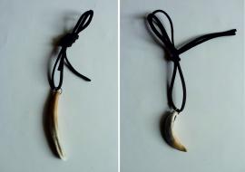 Pakabukai. Šerno dantys. Ilgasis - 7cm., lenktas - 4cm.